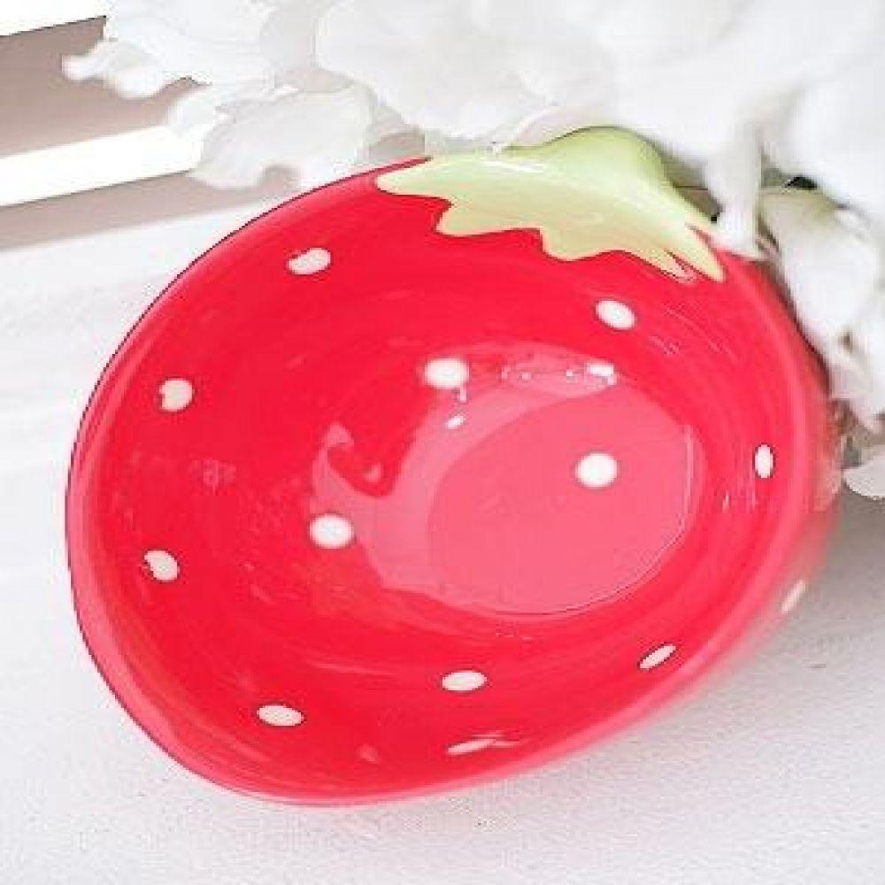 딸기 볼 (레드) 주방용품 주방소품 생활용품 도자기소품 딸기모양볼