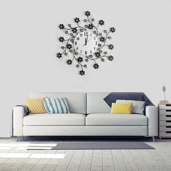JHC컴퍼니 눈꽃 크리스탈 벽시계(55cm) 벽시계 탁상시계 시계 클래식시계 엔틱벽시계