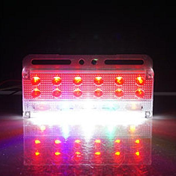 24V전용 3WAY T8 LED차폭등(레드색상) 차폭등 사이드램프 노면등 윙바디램프 차량폭인식 차폭인식 화물차 탑차 봉고 포터 하이빔