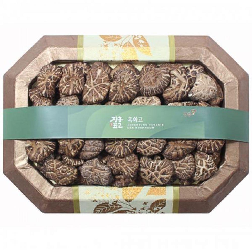 흑화고2호 (소)350g 쇼핑백 보자기포장 식품 농산물 채소 표고버섯 선물세트
