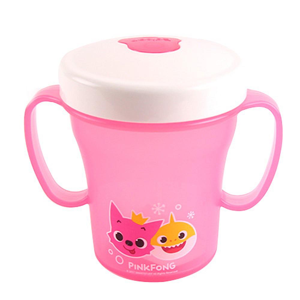 핑크퐁 에디슨 흘림방지 양손빨대컵200ml-핑크 핑크퐁 아기상어 옥수수 옥수수머그 머그 머그컵 옥수수머그컵 유아컵 아동컵 유아식기