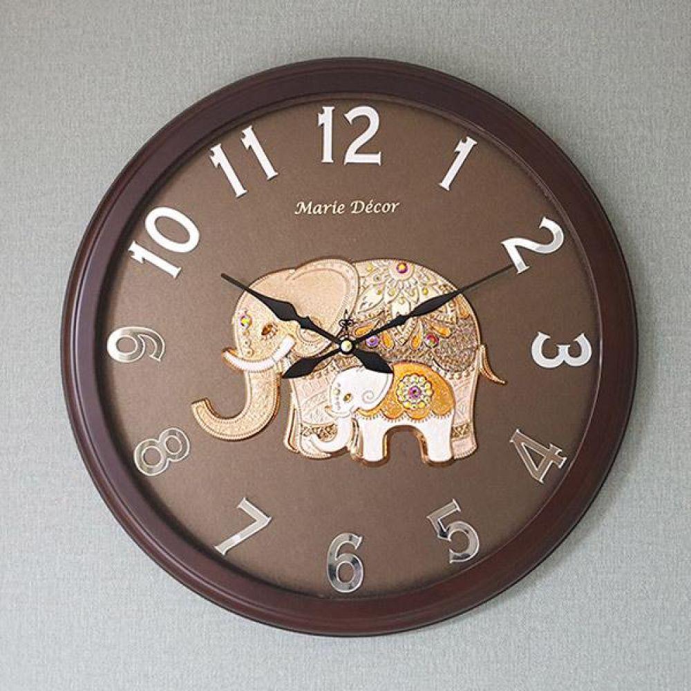 미러넘버 벽시계 (파인보석 코끼리 골드) 벽시계 벽걸이시계 인테리어벽시계 예쁜벽시계 인테리어소품