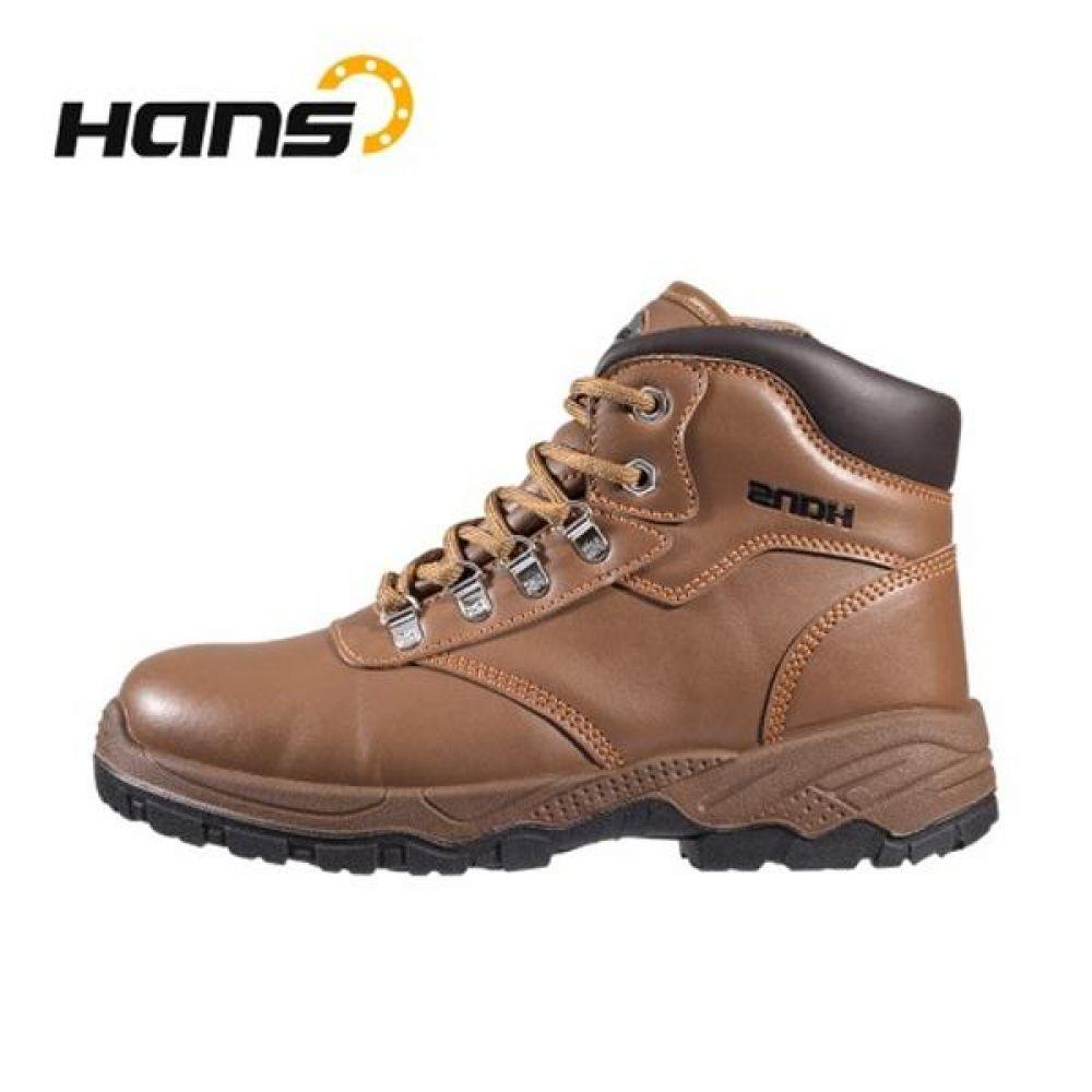 한스 HS-80 보스 6in 보통작업용 중단화 안전화 HANS 한스산업 가죽안전화 지퍼안전화 지퍼타입 작업화 현장화