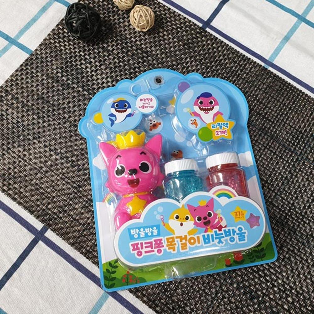 목걸이 비눗방울세트 핑크퐁 비누방울액 비누방울 비누방울놀이 장난감 비누방울액 비눗방울 매직버블