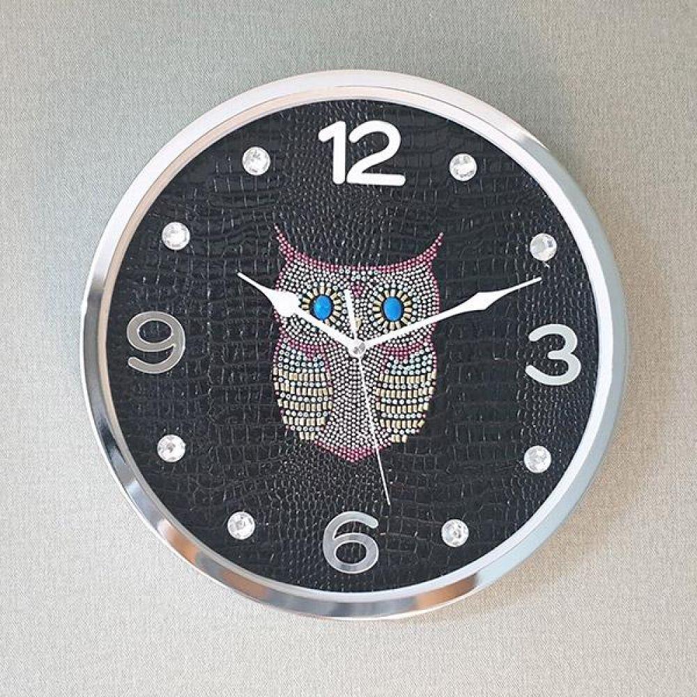 스위트부엉이 무소음 벽시계 (블랙) 벽시계 벽걸이시계 인테리어벽시계 예쁜벽시계 인테리어소품