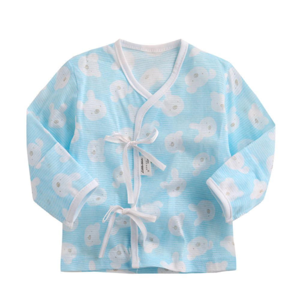 한국 동물 배냇저고리 2장1세트 블루(0-2개월) 201393 배냇저고리 배내옷 깃저고리 아기옷 아기속싸개 아기겉싸개 속싸개 겉싸개 유아옷