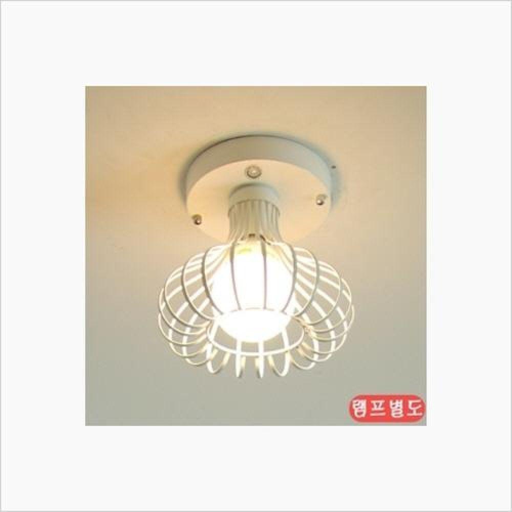 인테리어 조명기구 하프 1등 센서등 화이트 철물용품 인테리어조명 벽등 직부등 센서등 조명 전구 램프 백열등기구