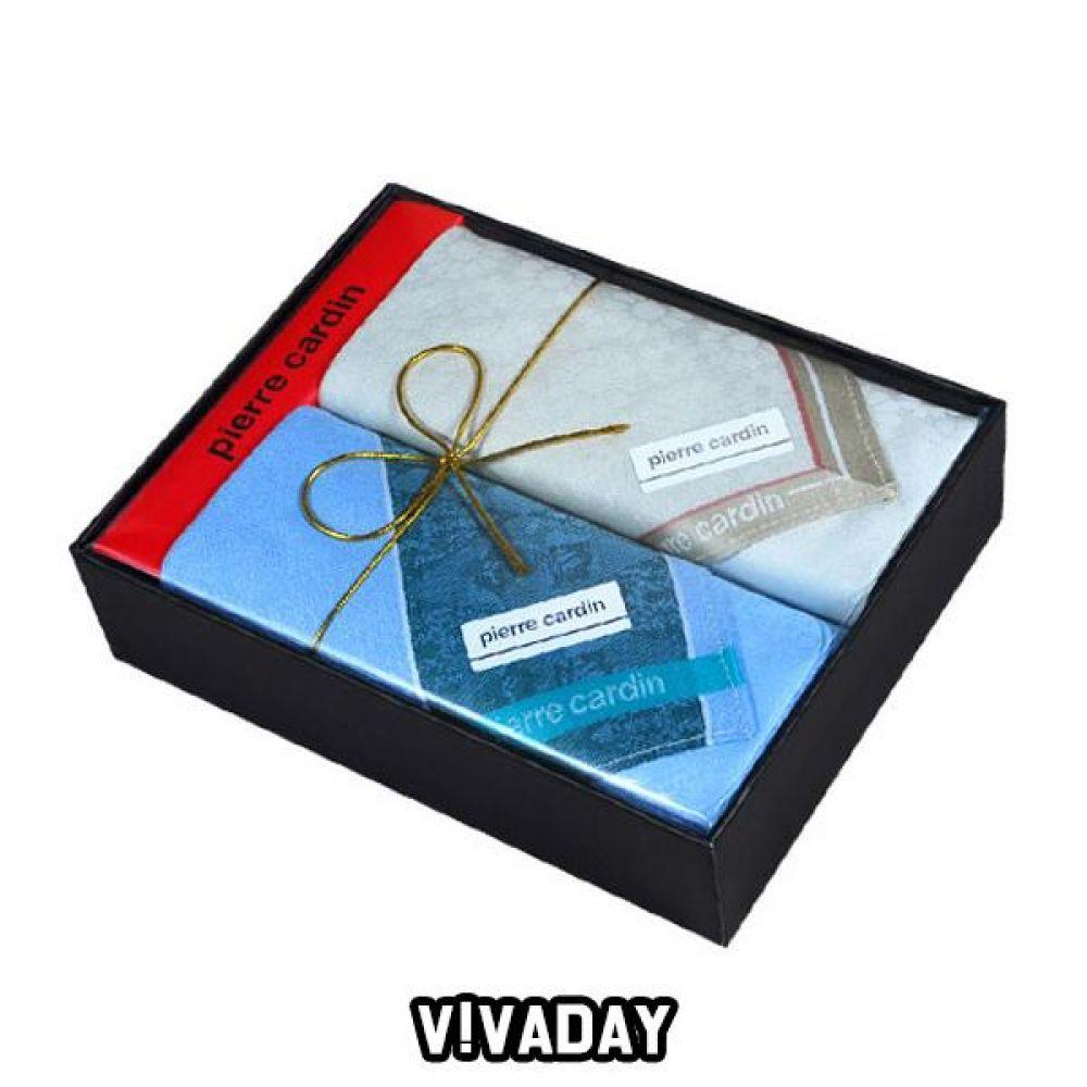 VIVADAY-SC67 고급케이스 남성손수건 2매입 손수건 나염손수건 여성손수건 신사손수건 남성손수건 순면손수건 가제손수건 고급손수건