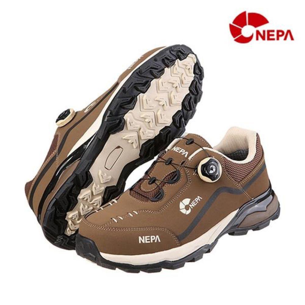 네파 GT-42(BR) 다이얼 4in 가죽안전화 작업화 안전화 NEPA 네파 단화 가죽안전화 보아시스템 작업화 현장화