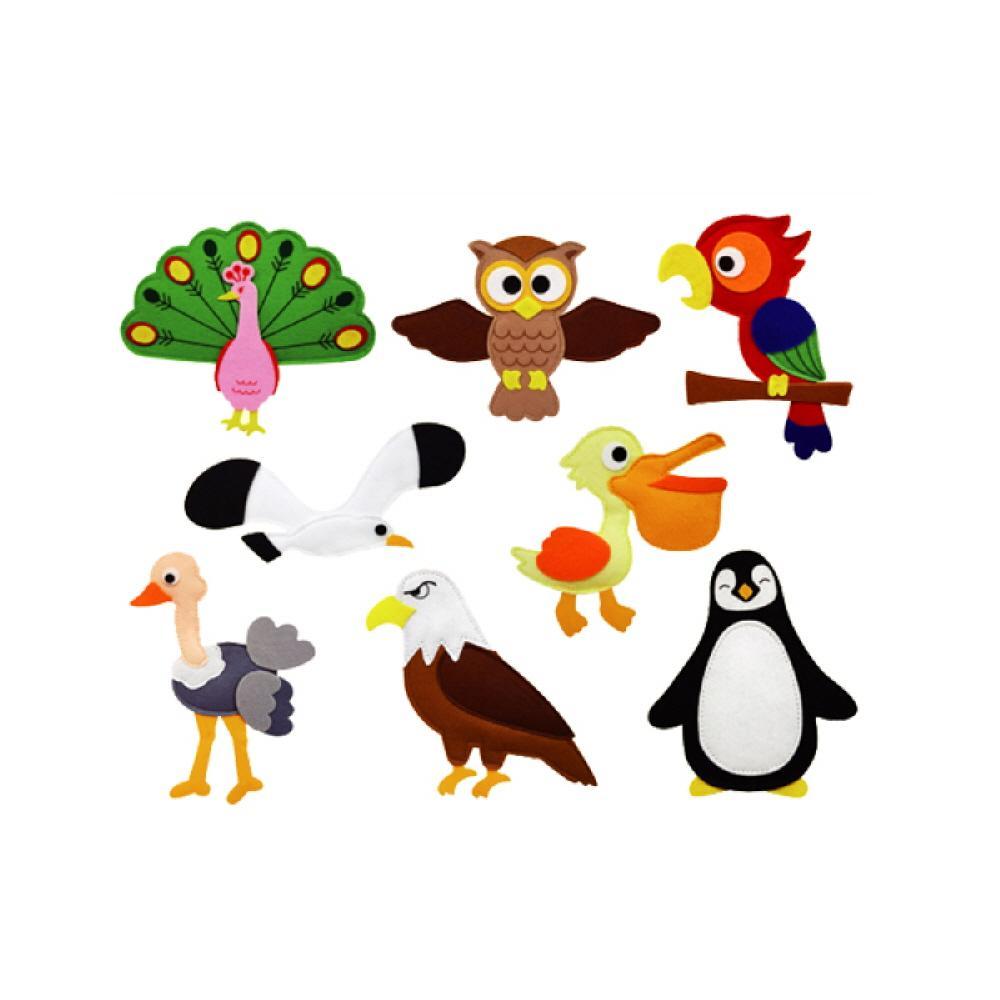 완구 어린이 유아 찍찍이 교육 교구 모형 조류 8종 2살장난감 3살장난감 4살장난감 아이놀이 어린이선물
