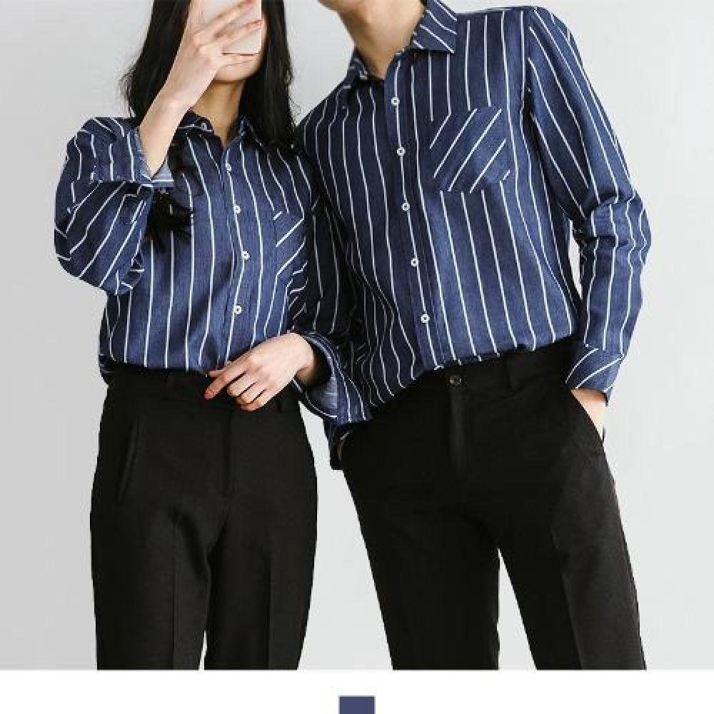 커플시밀러룩 빅사이즈 네이비 스트라이프 청남방 커플셔츠 커플시밀러룩 커플룩 시밀러룩 커플셔츠 커플남방 웨딩촬영커플룩 남자셔츠 여자셔츠 남자청남방 여자청남방 남자오버핏셔츠 여자오버핏셔츠 남자스트라이프셔츠 여자스트라이프셔츠