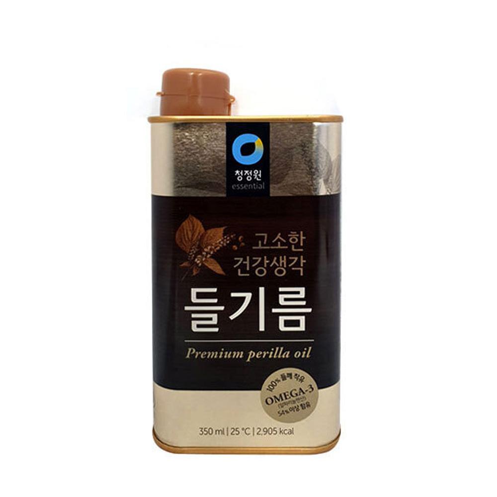 청정원 고소한 건강생각 들기름 350ml 조미료 들깨 참기름 들기름 식용유 조미료 양념