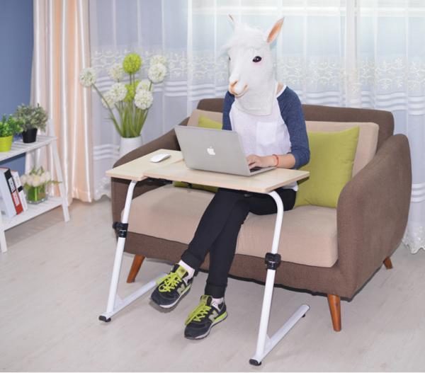 MWSHOP 접이식 침대 사이드 높이조절 노트북 테이블 엠더블유샵