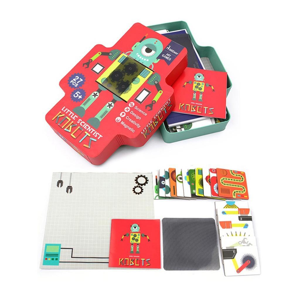 선물 3살 4살 유아 움직이는 로보트 만들기 자석 퍼즐 퍼즐 어린이교구 창의교구 아동퍼즐 창작놀이
