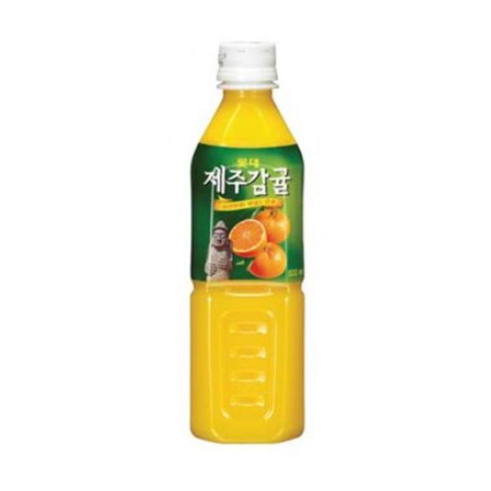 칠성)제주감귤 500ml x 24페트 믿을 수 있는 정품 정량 음료 음료수 음료수도매 주스 감귤주스