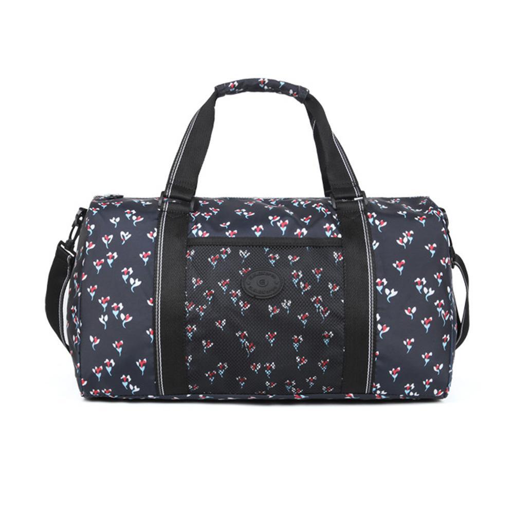 네이비꽃 캐주얼 무늬 패턴 보스턴 여행 가방 트레블 보스턴백 여행용보스턴 보스턴가방 보스턴 트레블