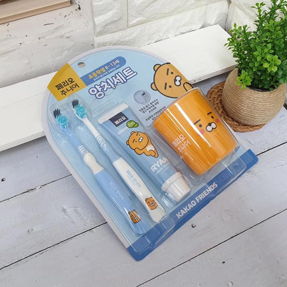 헬로키즈 양치세트 라이언 유아칫솔 구강청결제 유아칫솔 구강청결제 양치컵세트 구강용품 양치세트