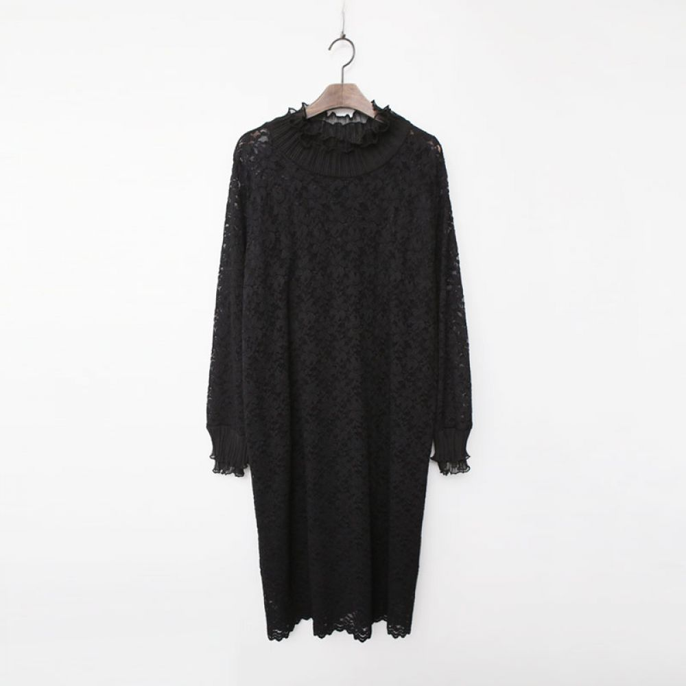 쉬폰 레이스 원피스 1048453 DRESS 쉬폰 레이스원피스 블랙 Black 미시