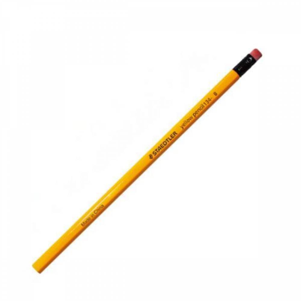 스테들러 지우개연필 134 12개입 연필세트 노란색연필 스테들러연필 오피스연필 옐로우펜슬 지우개연필 스테들러지우개연필 어린이연필 사무용연필