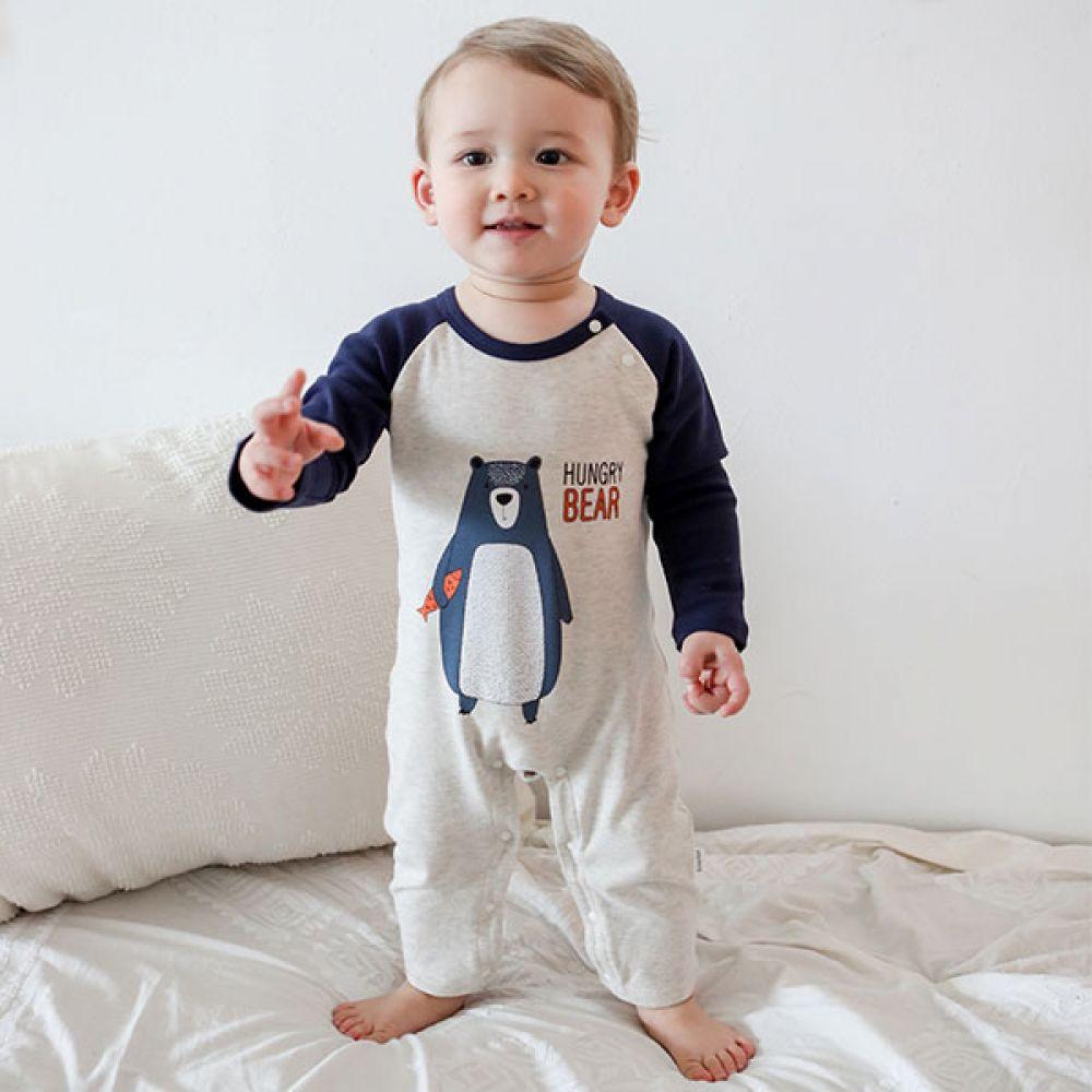 헝그리 베어 우주복(0-18개월) 203607 아기우주복 유아우주복 우주복 아기옷 유아옷 신생아옷 남아우주복