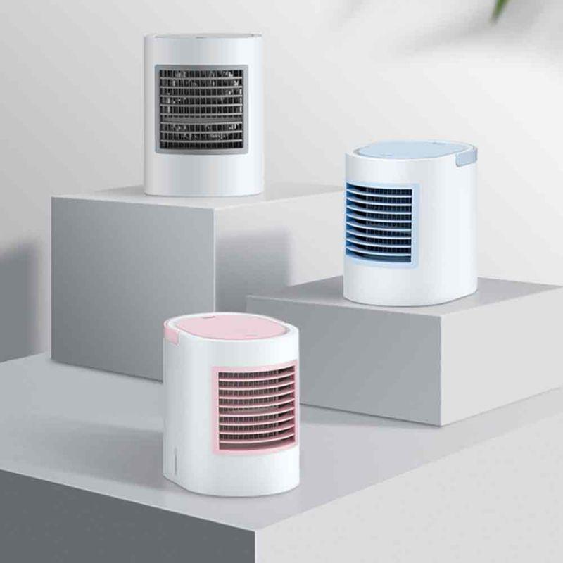 라운딩 유러피언 LED 미니 냉풍기 탁상용 냉풍기 소형냉풍기
