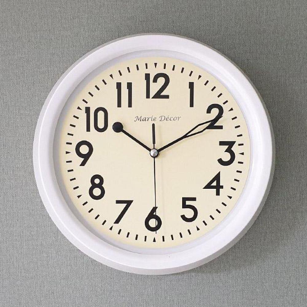 뉴트로 무소음 벽시계 (화이트) 벽시계 벽걸이시계 인테리어벽시계 예쁜벽시계 인테리어소품