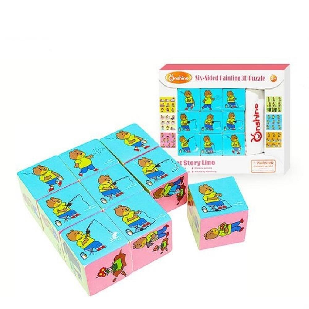 퍼즐 아이 유아 유치원 학습 교구 스토리텔링 육면 퍼즐 블록 블럭 장난감 유아블럭