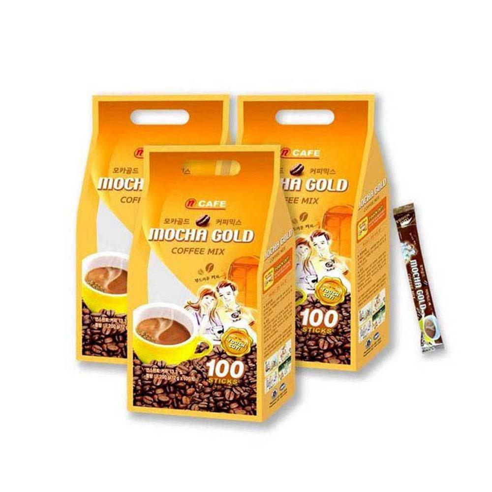 엔카페 모카골드 100개입 커피믹스 스틱커피 맥심커피 아메리카노 커피믹스 블랙커피 카누