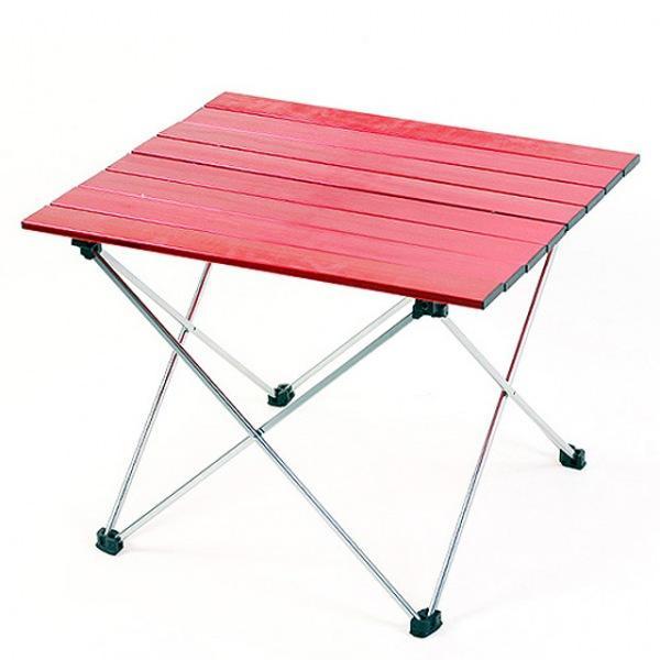 몽동닷컴 알루미늄 롤 테이블 8단 레드 테이블 접이식테이블 캠핑테이블 야외테이블 휴대용테이블