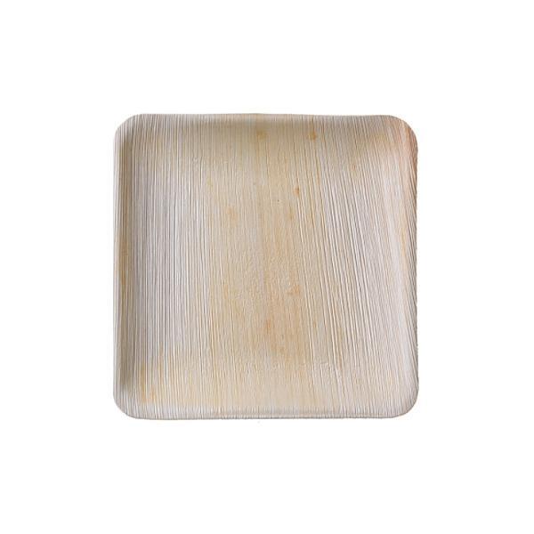 본플라 천연야자나무 20cm 일회용 정사각형 접시 (6) 주방소품 일회용접시 피크닉 포장용기 집들이