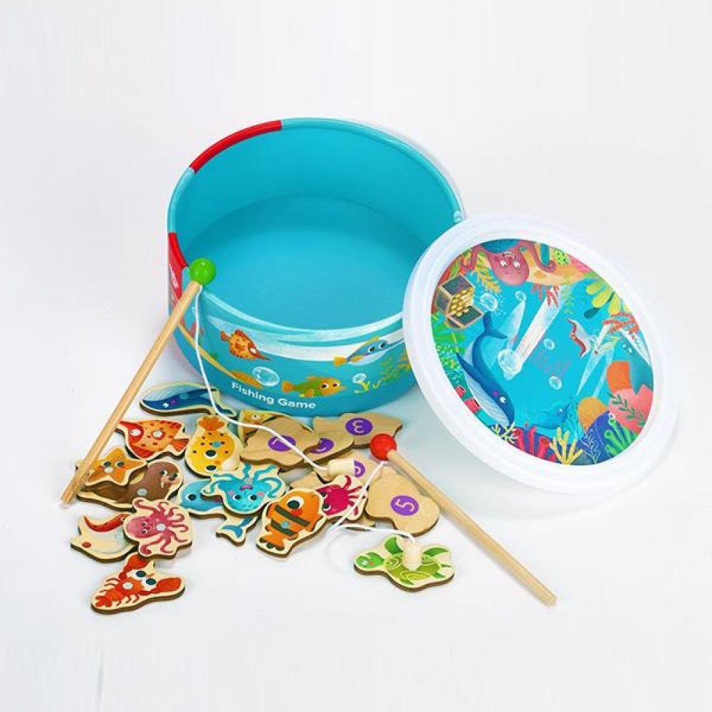 투키토이 투키 자석바다낚시22pcs 낚시놀이 자석놀이 낚시놀이 자석낚시놀이 퍼즐놀이 해양동물이름맞추기 장난감