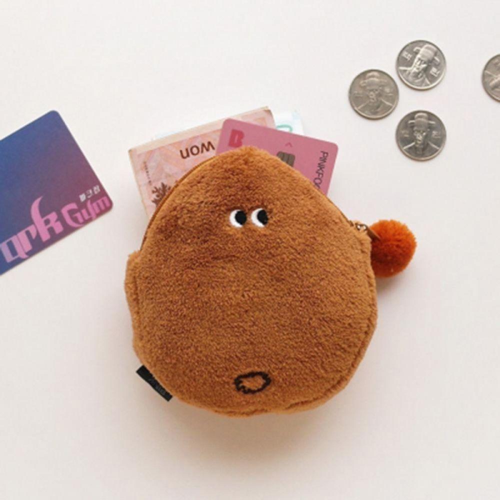 핑크풋 50 포근하고 푹신한 감자동전지갑 지갑 야채지갑 야채동전지갑 푹신한지갑 열쇠고리지갑 동전지갑
