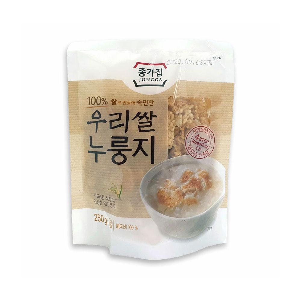 종가집 우리쌀 누룽지 250g 간식 아침식사 미음 숭늉 누룽지 미음 아침대용 숭늉 누룽지과자