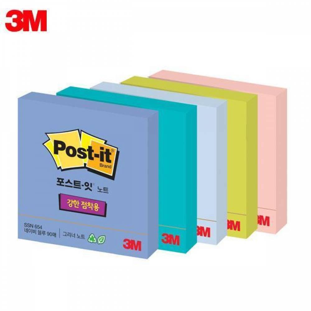 MWSHOP 3M 포스트잇 슈퍼스티키 그리너노트 SSN RC-654 (76x76mm) 1패드 메모지 엠더블유샵