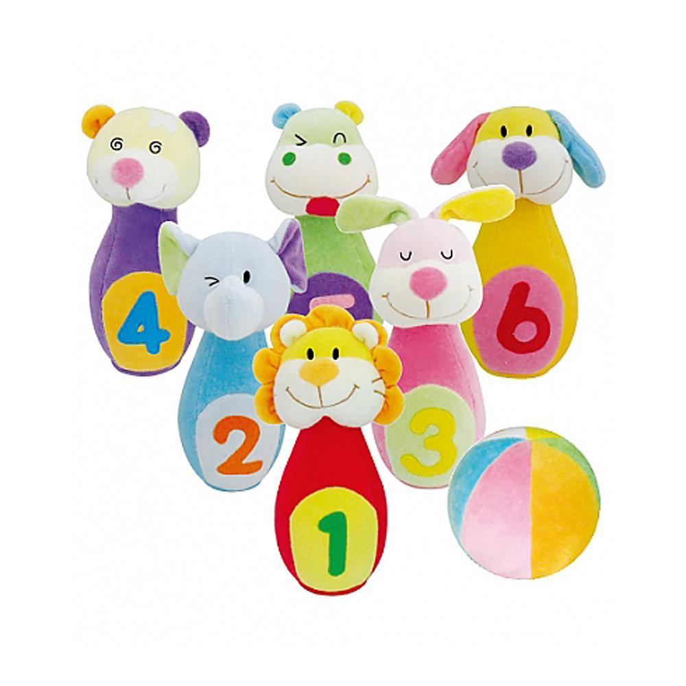 장난감 어린이 유아 교구 헝겊 동물 볼링 놀이 완구 유아원 장난감 2살장난감 3살장난감 4살장난감