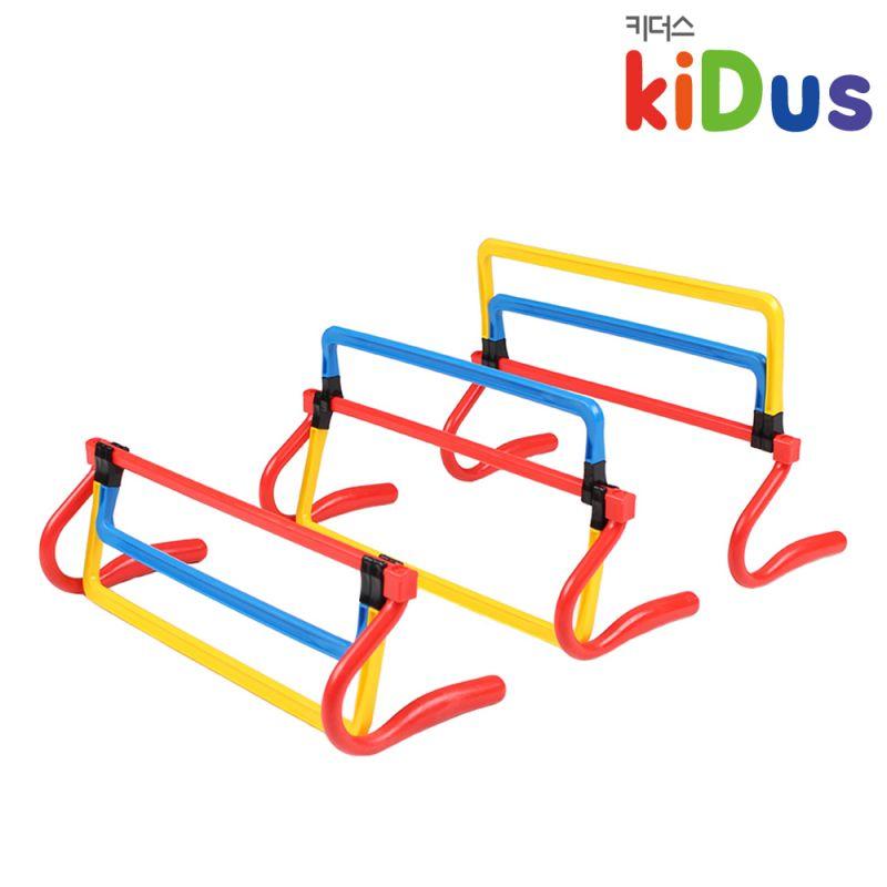 키더스 3단 허들 유아체육 학교 유치원 어린이집 달리기 육상 릴레이 점프 훈련 트레이닝