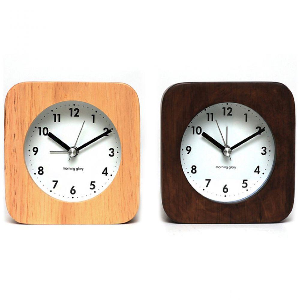 24000 사각우드 알람시계 탁상시계 알람시계 탁상용시계 알람용시계 인테리어시계 장식용시계 디자인시계 우드시계