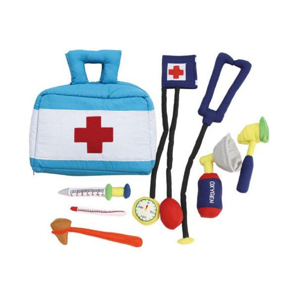 역할놀이 의사놀이와 하늘색가방 완구 문구 장난감 어린이 캐릭터 학습 교구 교보재 인형 선물