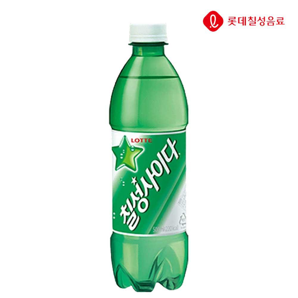 탄산음료 칠성사이다 500ml X 20개 (일반용) 탄산음료 사이다 칠성사이다 업소용사이다 음료수