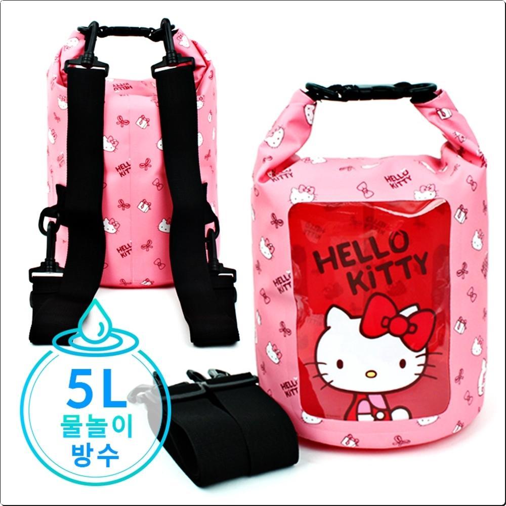 헬로키티 드라이백팩 5L (어깨끈2개)(748876) 캐릭터 캐릭터상품 생활잡화 잡화 유아용품