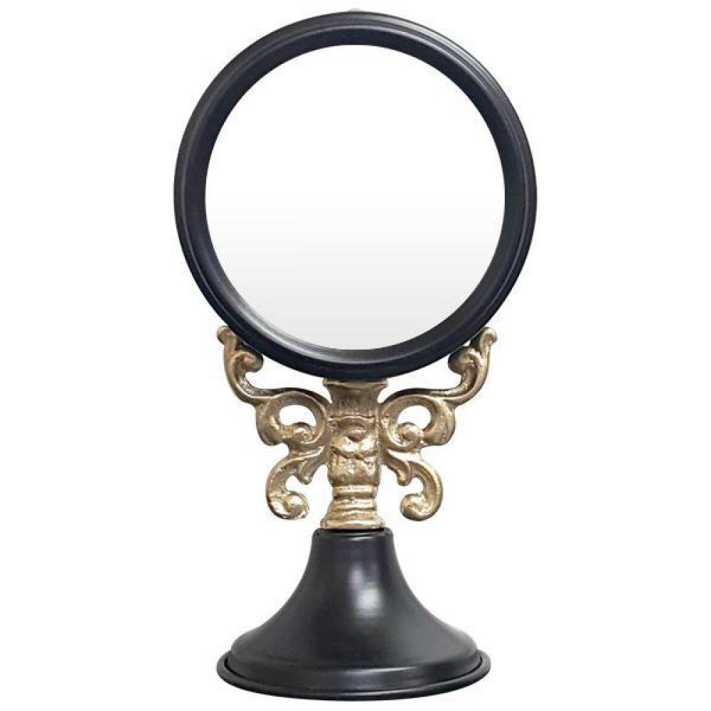 IG7362 주석 탁상 거울 블랙 제조한국 탁상거울 인테리어거울 메탈거울 주석거울 소품거울