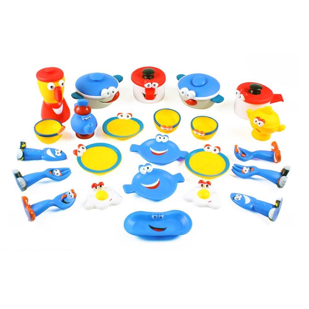 선물 유아 아이 소프트 부엌 놀이 24pcs 어린이날 완구 어린이집 유아원 초등학교 장난감