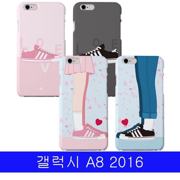 몽동닷컴 갤럭시 A8 2016 하트스텝 하드 A810 케이스 갤럭시A8케이스 갤A82016케이스 A8케이스 하드케이스 핸드폰케이스
