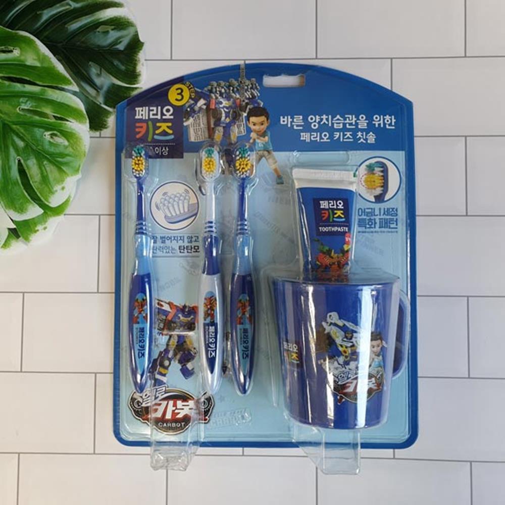 양치세트 키즈 헬로카봇 양치컵세트 구강청결제 양치세트 구강청결제 양치컵세트 유아칫솔 구강용품
