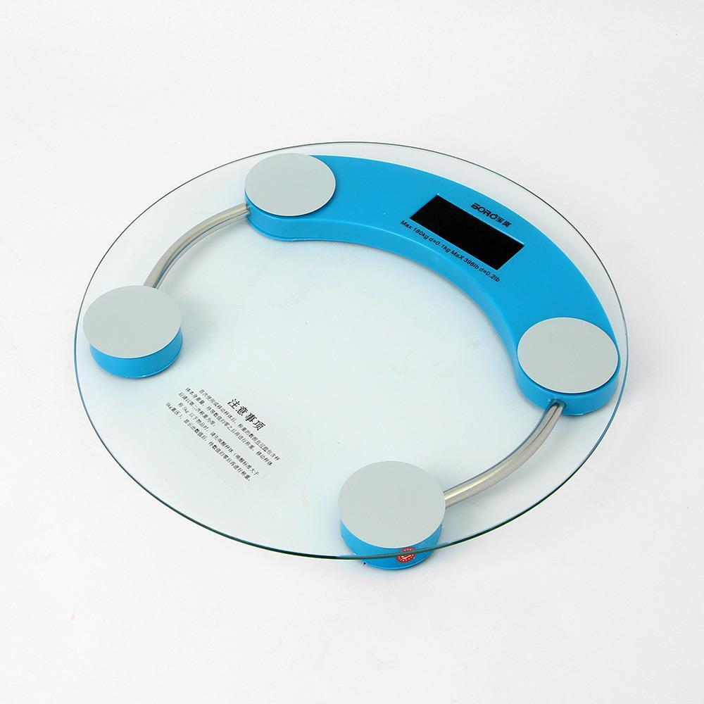디지털체중계 블루 원형 전자체중계 건강용품 전자체중계 디지털체중계 체중측정계 건강용품 체중계