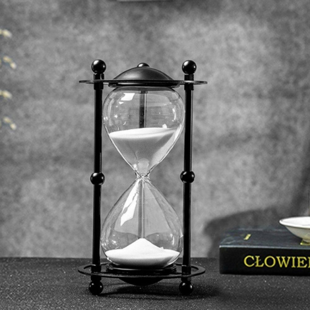 블랙메탈 골드메탈 실버메탈 인테리어 모래시계(30분) (화이트) (골드) 시계 탁상시계 엔틱시계 앤틱시계 스탠드시계
