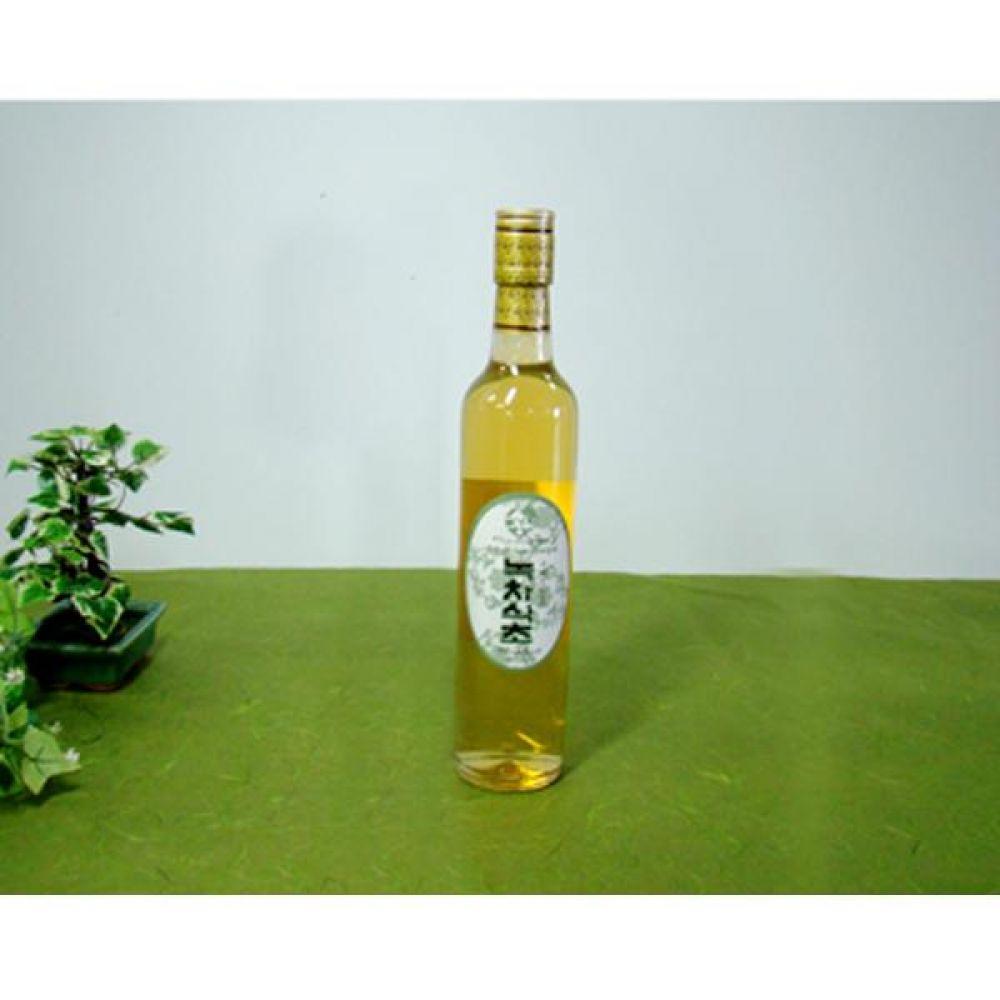류충현 녹차식초 360ml 원료의 맛과 향이 살이있는 고급 음용 식초 건강 식품 버섯 선물 식초