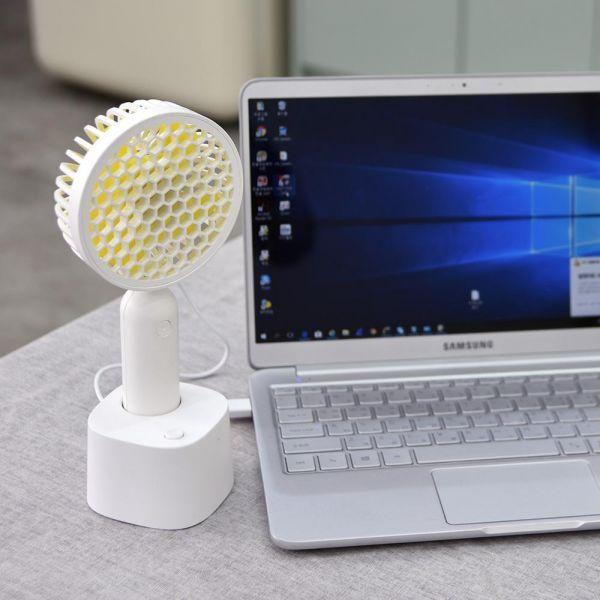 USB 휴대용 미니선풍기 탁상용 자동회전