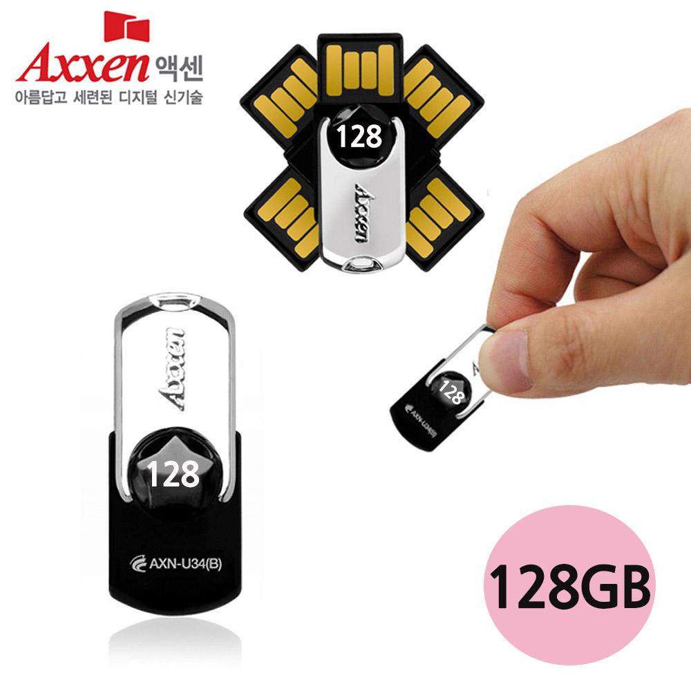USB메모리 U34 STAR 128GB 블랙 플래쉬 저장장치 메모리 플래쉬 저장장치 드라이브