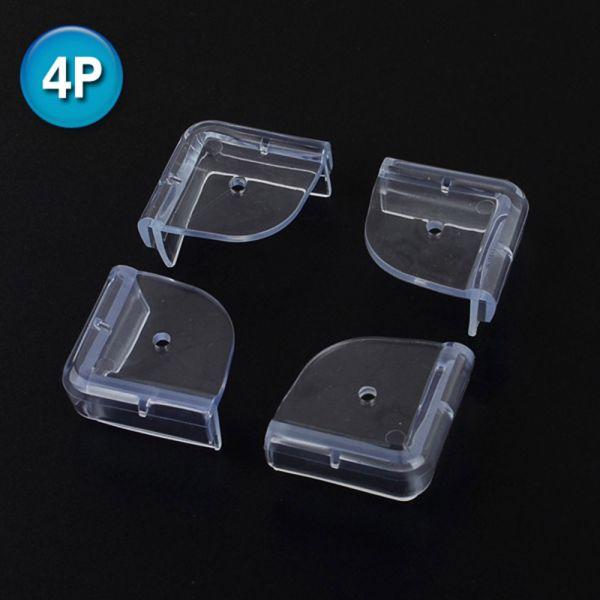 4P 투명 라운드 모서리보호대 책상모서리보호대 코너보호대 모서리보호대 식탁보호대 책상모서리보호대 식탁모서리보호대
